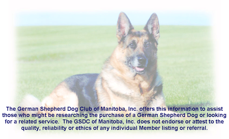 Member Services - German Shepherd Dog Club of Manitoba, Inc.: gsdcmanitoba.weebly.com/member-services.html